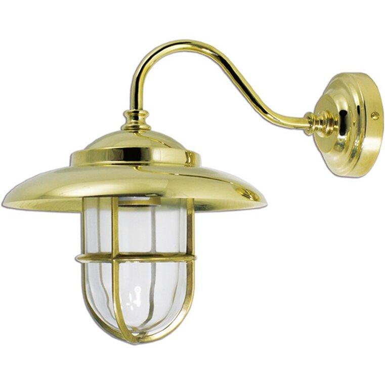 Lampada da parete applique in ottone lucido interno esterno Linea Nautica Cappello 20 cm