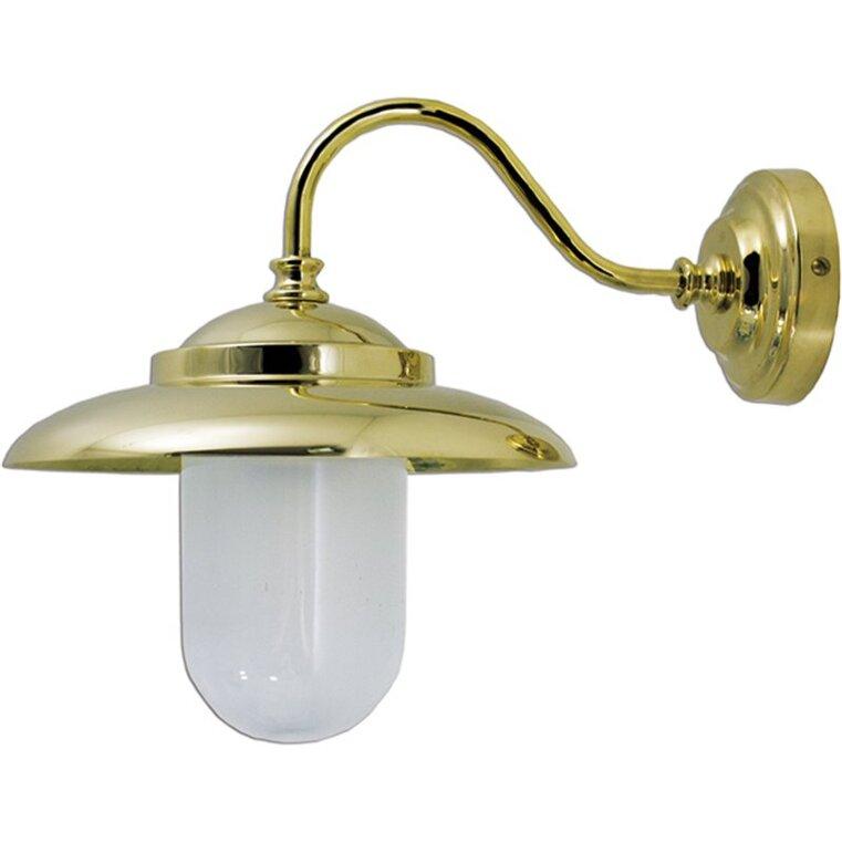 Applique in ottone lucido per interno od esterno linea nautica Vetro