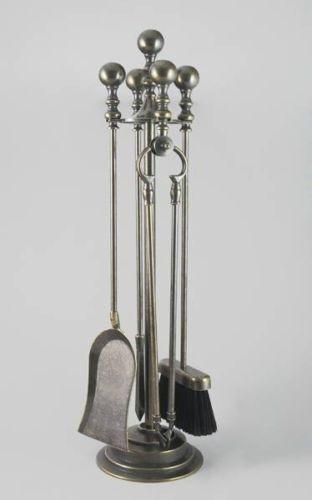 Accessori da Camino Attrezzi in ottone brunito stile impero 4 pezzi