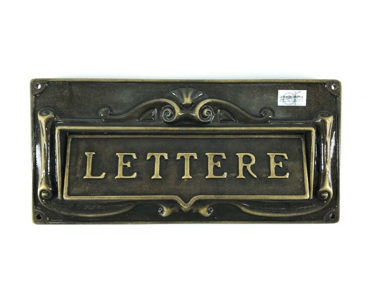 Buca per lettere in alluminio con doppio decoro da esterno