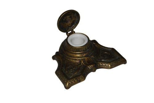 Calamaio stile impero con serbatoio in ceramica