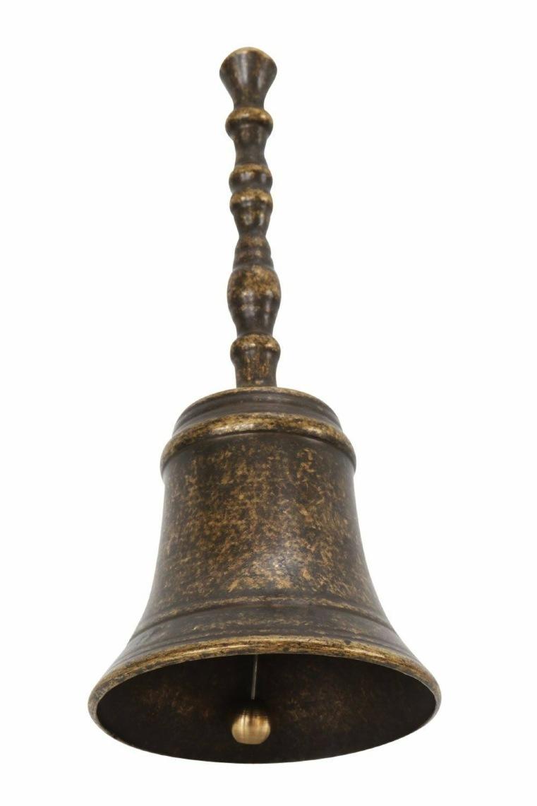 Campanello in ottone brunito altezza 12 cm