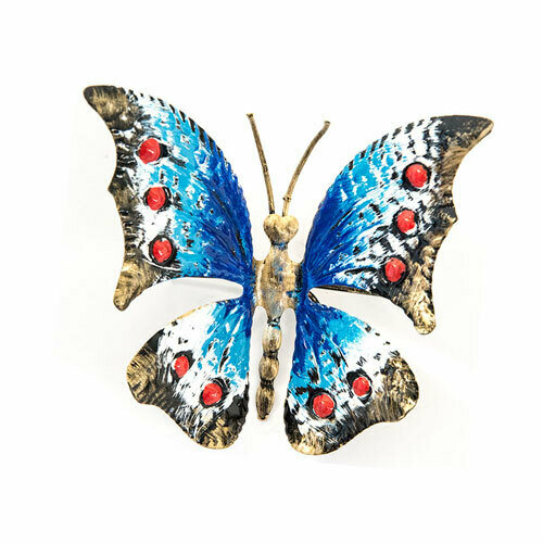 Farfalla in ferro colorata da poggiare segnaposto bomboniera