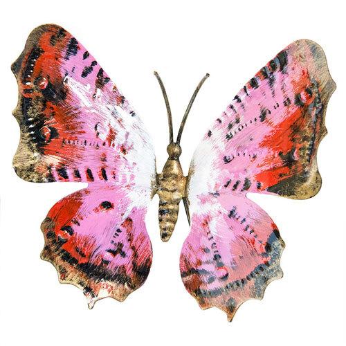 Farfalla in ferro battuto dipinta a mano grande vari colori