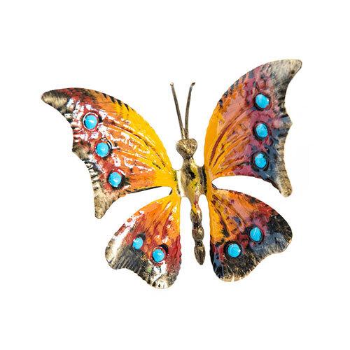 Farfalla in ferro colorata da poggiare o appendere