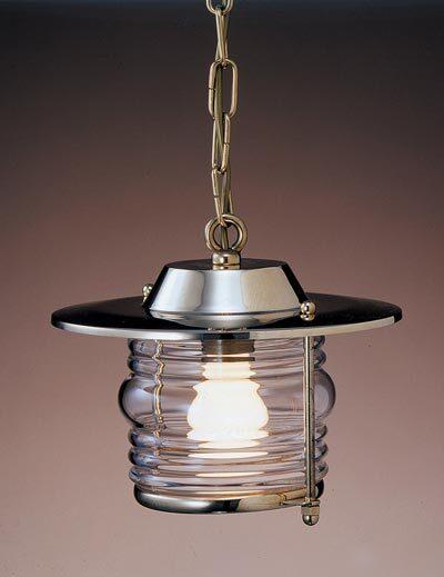 Lampada da soffitto con catena in ottone lucido stile marina