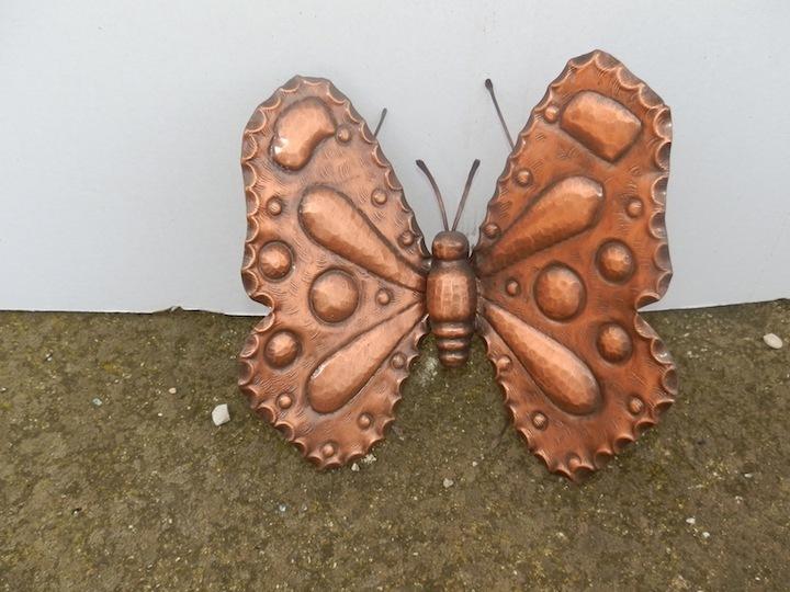 Farfalla decorativa da appendere in rame lucido