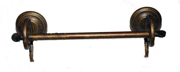 Asta portasciugamano in ottone brunito modello onda da parete 36 cm