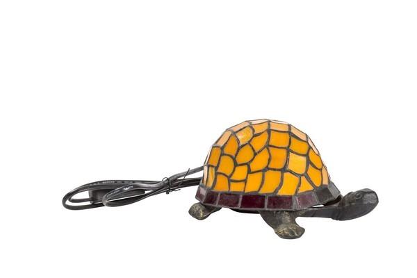 Lampada Abatjour TIFFANY Vetro tartaruga Rosa Cameretta Bambini